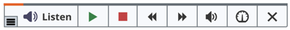 Image of read speak button expanded